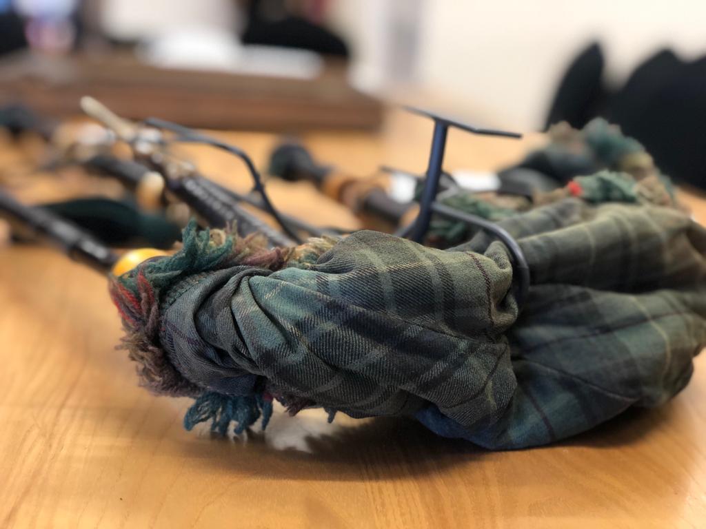 Bagpipes belonging to Pipe Major John Buchanan