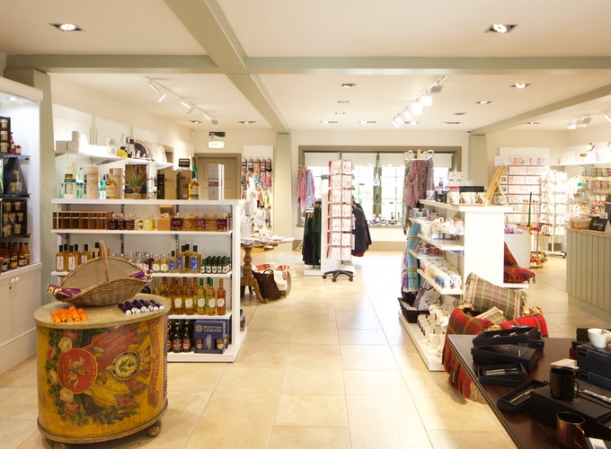 The Black Watch Castle and Museum Gift Shop. Picture of the gift shop interior with gift products on display