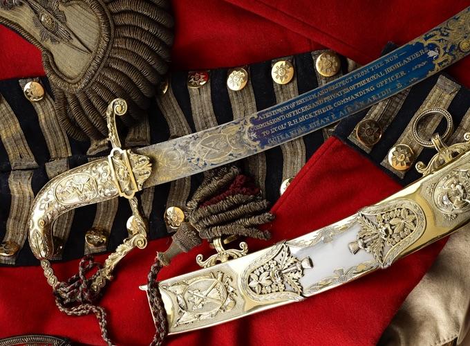 The Black Watch Regiment Military Artefacts Uniform and Sword