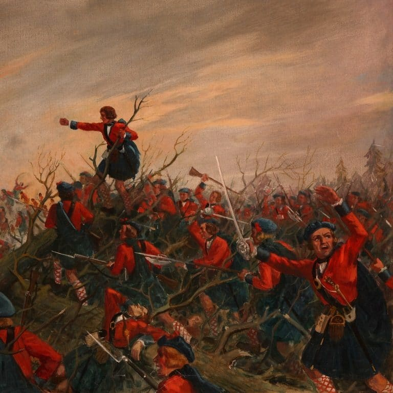 Painting of the Battle of Ticonderoga