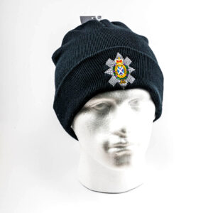 The Black Watch Castle and Museum Shop - Beanie with Black Watch badge - Navy