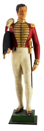 Plaster statue of Charles Jackson of the 73rd Regiment