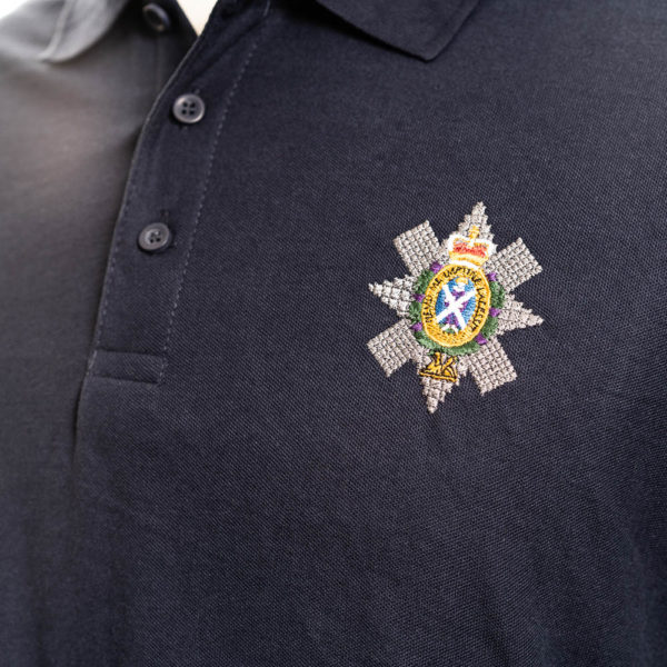 The Black Watch Castle and Museum Shop - Polo shirt with Black Watch Badge  - Navy