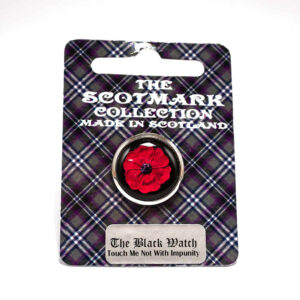 The Black Watch Castle and Museum Shop - Poppy lapel pin - Black