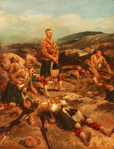 """Magersfontein """"No Surrender"""" Oil painting by Frank Feller."""