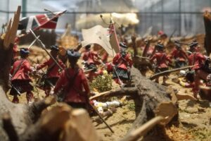 figure of soldieer figures fightingat Ticonderoga at