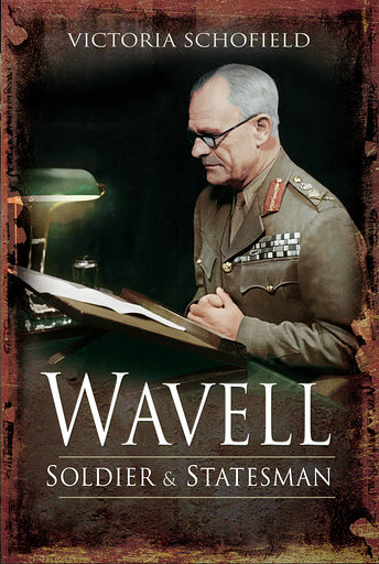 Book cover image showing Field Marshal Earl Wavell writing