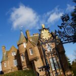 Image of Balhouise Castle in Perth taken through the Wavell gates