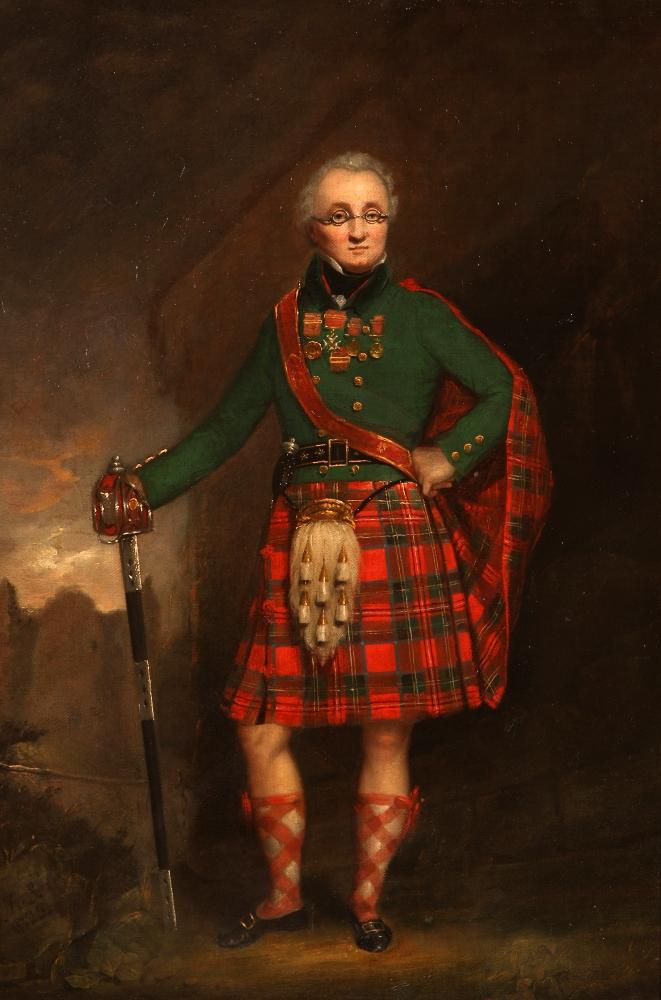 painting of Black Watch Officer Major-General David Stewart of Garth