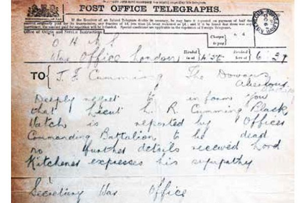 Telegram from the War Office
