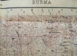 Map of Burma dated 1944