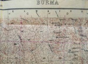 Map of Burma dated 1944