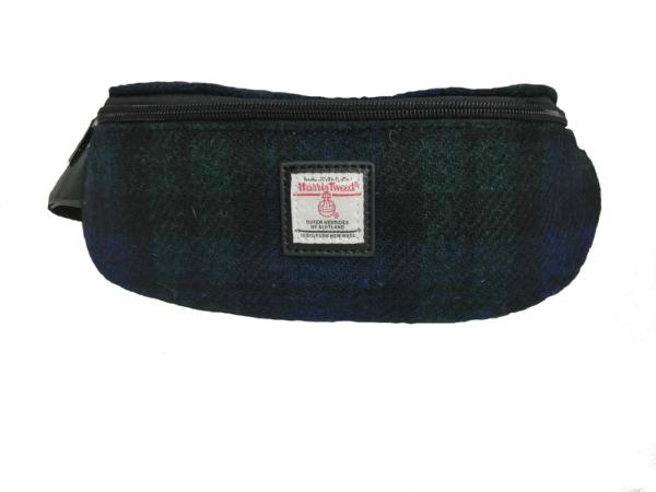 Black Watch Tartan Waist bag made from 100% Harris Tweed