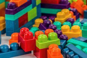 colourful toy plastic bricks