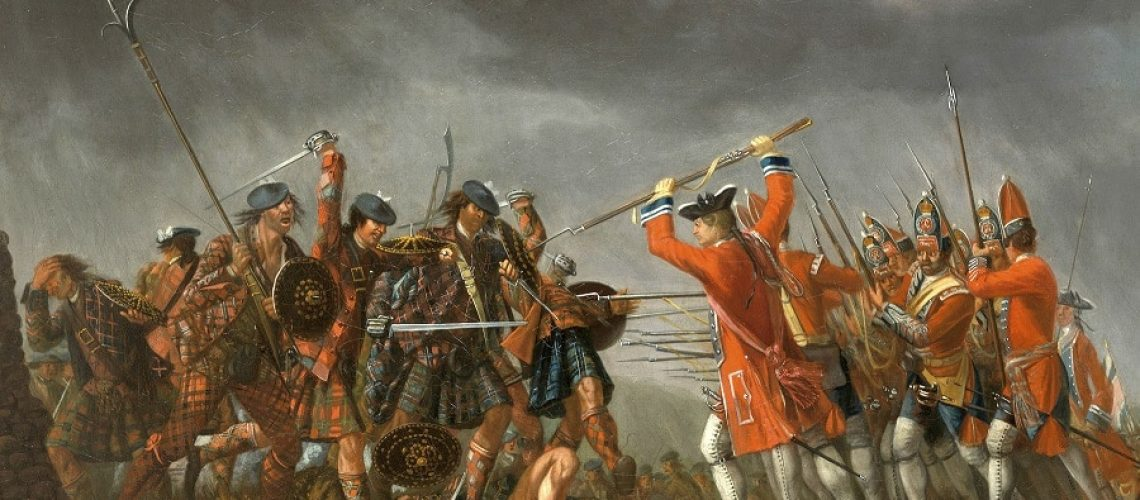 A picture of the painting (oil on canvas) of the Battle of Cullodean by artist David Morier (1705-1770)