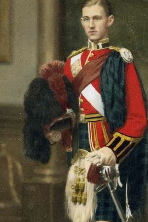Painted picture of Black Watch soldier Lewis Cumming
