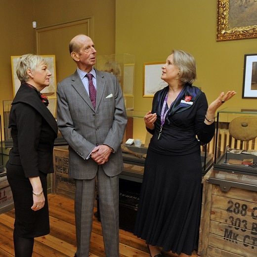 HRH Duke of Kent in the WW1 room of The Black Watch Museum