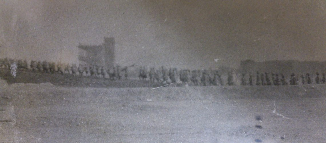 Black Watch soldiers marching in Mesopotamia.